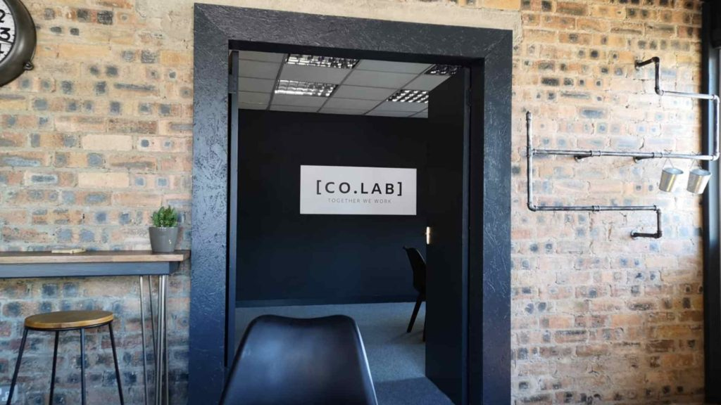 Image showing the inside of Co.Lab office space where the new job will take place