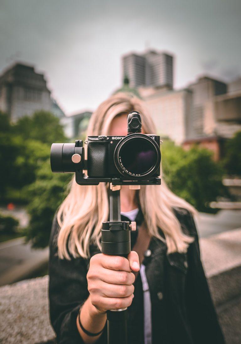 blonde photographer photography to build brand awareness