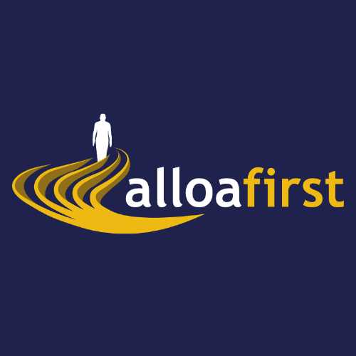 Alloa First logo accompanying a testimonial given by the client about a video advertisement created for them by Co.Lab